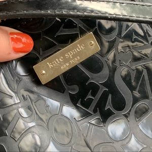 Kate Spade patent leather logo embossed tote bag